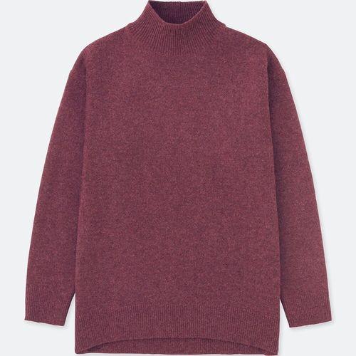プレミアムラムハイネックチュニック(長袖)、カラー:74 PURPLE