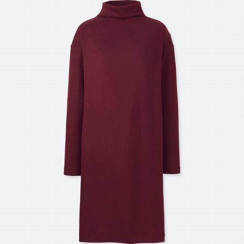ソフトニットフリースワンピース(長袖)、カラー:17 RED