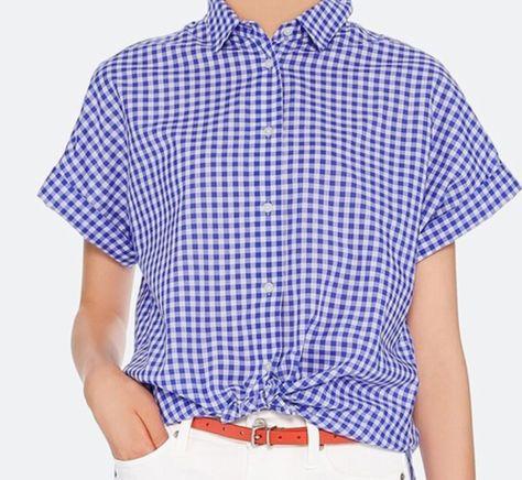ユニクロ、ソフトコットンチェックシャツ(半袖)