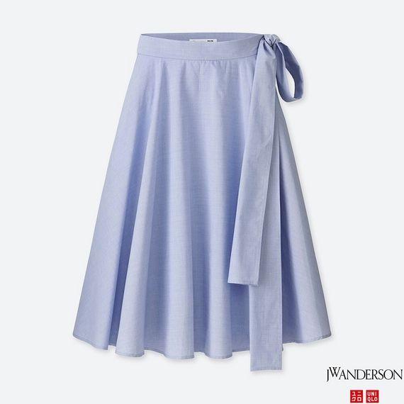 UNIQLO ハイウエストフレアスカート ブルー