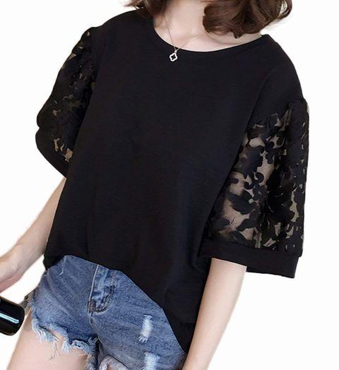 Yino、トップス ゆるtシャツ ブラック