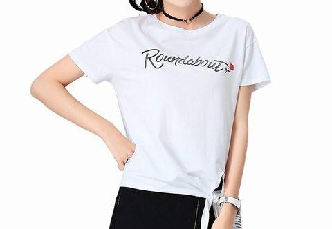 SENMHSレディーストップス半袖Tシャツ ホワイト┃アマゾン