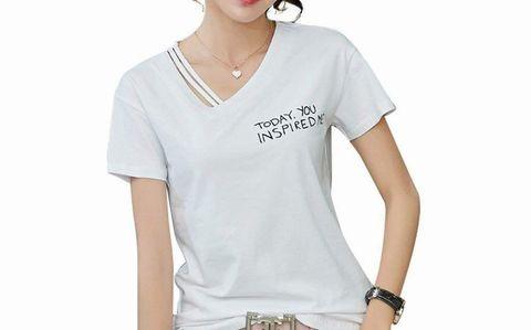 アマゾン、SENMHSレディースカジュアル半袖Tシャツ ホワイト