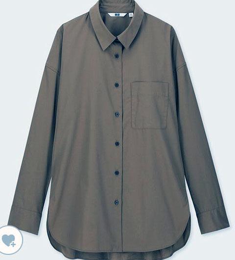 エクストラファインコットンシャツ(長袖)、カラー:35 BROWN