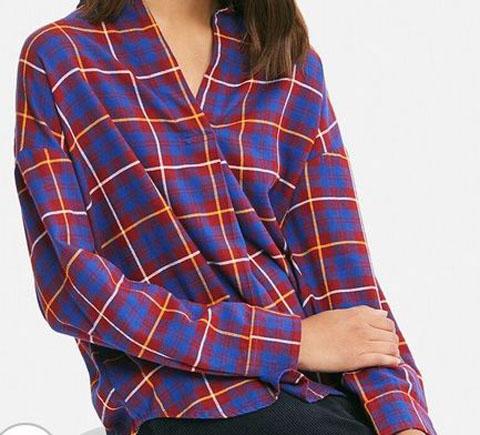 フランネルチェックスキッパーシャツ(長袖)、カラー:17 RED
