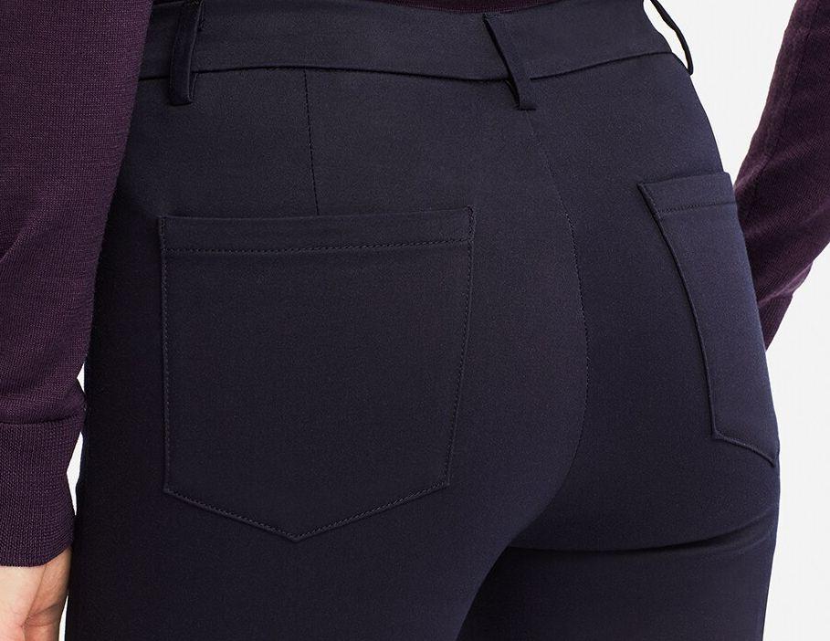 ヒートテックハイライズサテンレギンスパンツ(丈標準74~76cm)、カラー:19 BLACK┃トップ画像