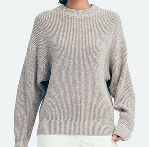 カラーミックスドルマンスリーブセーター(長袖)、30 NATURAL