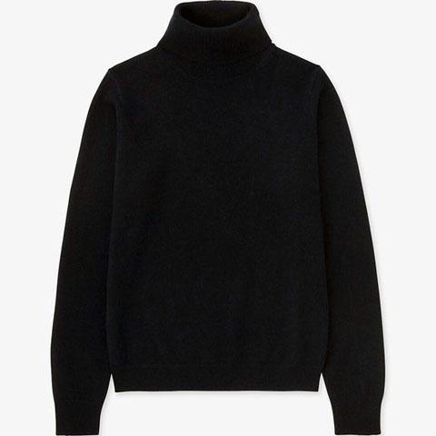 カシミヤタートルネックセーター(長袖)、69 NAVY