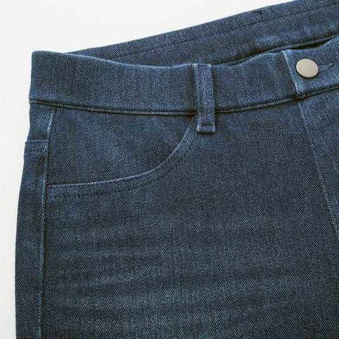 ヒートテックデニムレギンスパンツ(丈標準71~73cm)、65 BLUE