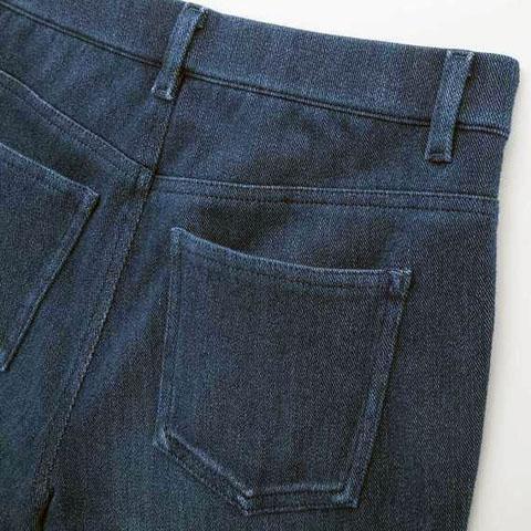 ヒートテックデニムレギンスパンツ(丈標準71?73cm)、65 BLUE